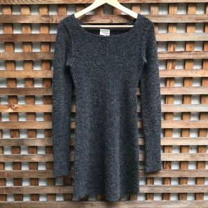 Wilfred Free Peele Alpaca Blend Long Sleeve Dress
